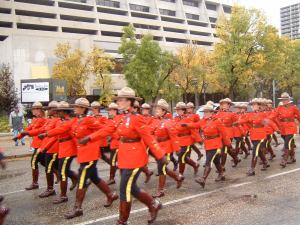 troop marching in parade