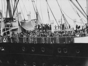 Passengers aboard the St. Louis, 1939.
