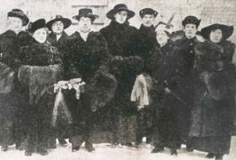 Executive members of the League following the passage of the suffrage bill in Manitoba, 1916. Source: Manitoba Archives
